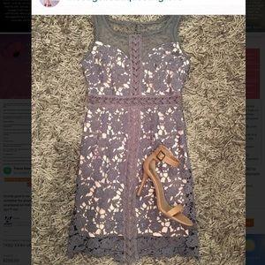 Grey/Cream Lace Dress